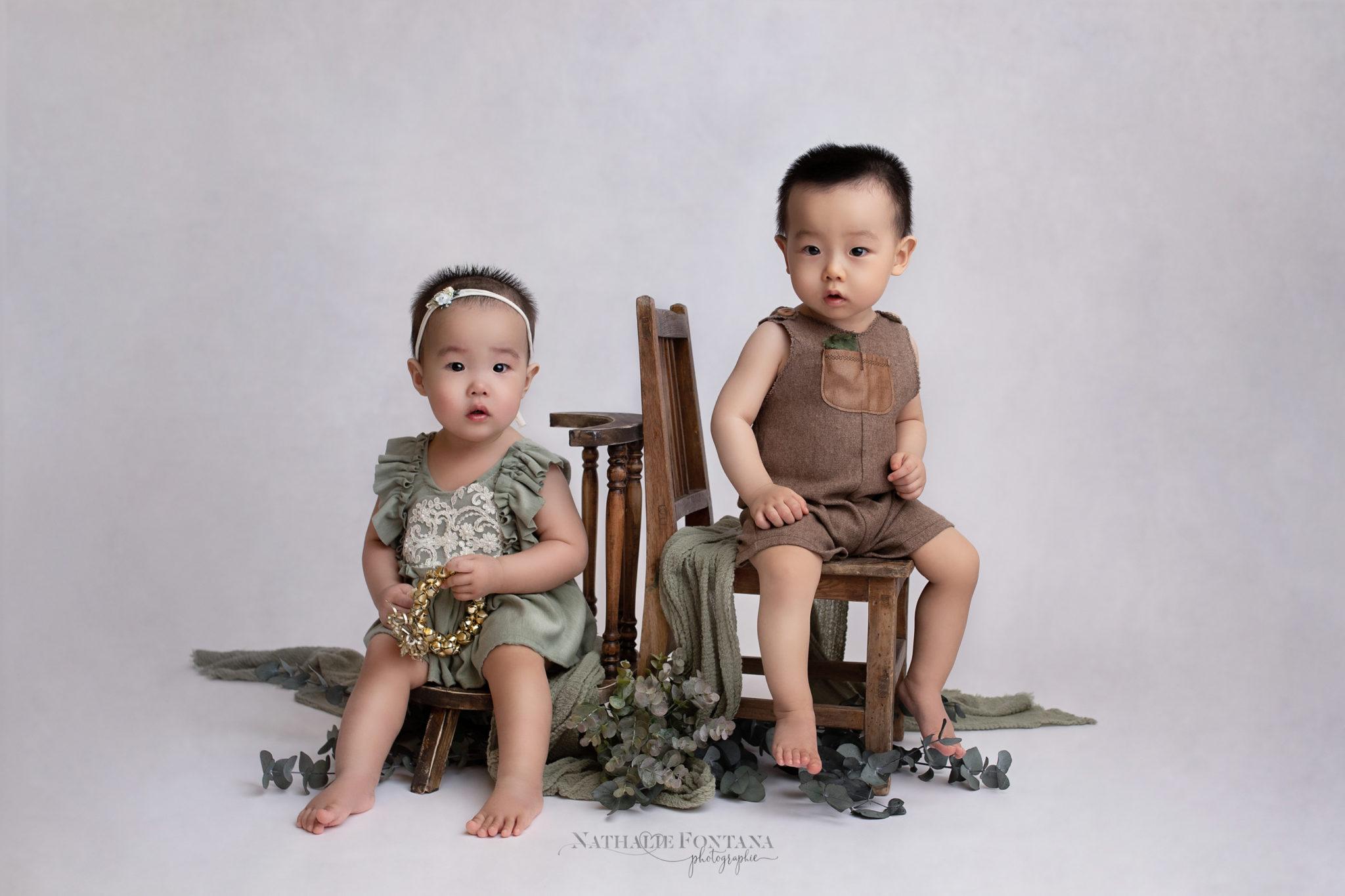 portrait bebe jumeaux